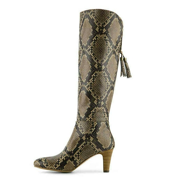 680551ab4a1e Bandolino Shoes - Bandolino Wendaw Wide Calf Animal Snake Print Boot